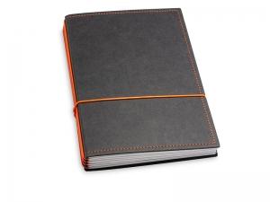 A5 4er Texon schwarz/orange mit Kalender 2020 - 2021 und 2 x Notizen