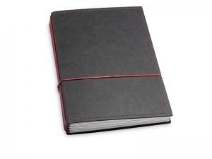 A5 4er Texon schwarz/rot mit Kalender 2020 - 2021 und 2 x Notizen