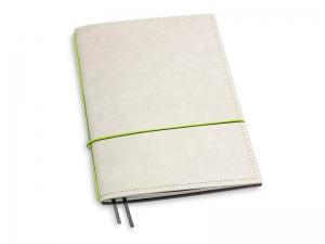 A5 1er Notizbuch Texon stone / grün
