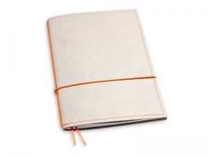 A5 1er Notizbuch Texon stone / orange