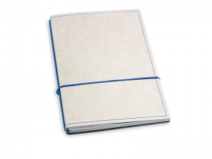 A5 2er Notizbuch Texon stone / blau, Notizenmix