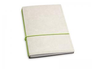 A5 2er Notizbuch Texon stone / grün, Notizenmix