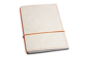 A5 2er Notizbuch Texon stone / orange, Notizenmix