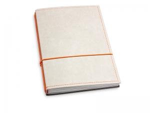 A5 3er Notizbuch Texon stone / orange, Notizenmix