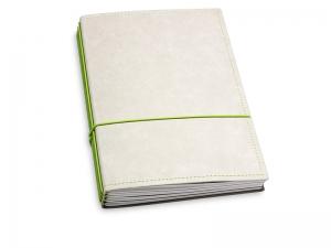 A5 4er Texon stone/grün mit Kalender 2020 - 2021 und 2 x Notizen