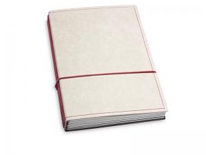 A5 4er Texon stone/rot mit Kalender 2020 - 2021 und 2 x Notizen