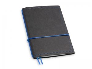 A6 1er Notizbuch Texon schwarz / blau mit Notizenmix