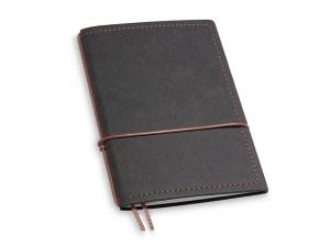 A6 1er Notizbuch Texon schwarz / braun mit Notizenmix