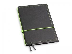 A6 1er Notizbuch Texon schwarz / grün mit Notizenmix