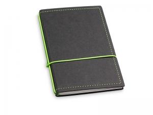 A6 2er Notizbuch Texon schwarz / grün mit Notizenmix und Doppeltasche