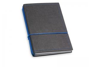 A6 3er Notizbuch Texon schwarz / blau mit Notizenmix