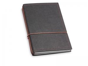 A6 3er Notizbuch Texon schwarz / braun mit Notizenmix