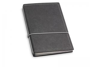 A6 3er Notizbuch Texon schwarz / grau mit Notizenmix