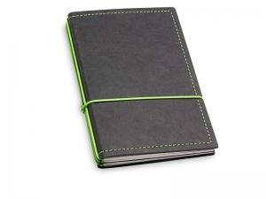 A6 3er Notizbuch Texon schwarz / grün mit Notizenmix