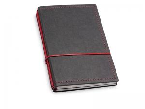 A6 3er Notizbuch Texon schwarz / rot mit Notizenmix