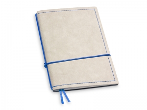 A6 1er Notizbuch Texon stone / blau mit Notizenmix