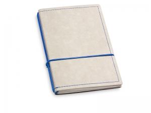 A6 2er Notizbuch Texon stone / blau mit Notizenmix und Doppeltasche