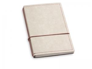A6 2er Notizbuch Texon stone / braun mit Notizenmix und Doppeltasche
