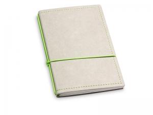 A6 2er Notizbuch Texon stone / grün mit Notizenmix und Doppeltasche