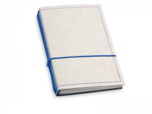 A6 3er Notizbuch Texon stone / blau mit Notizenmix