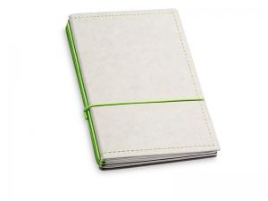 A6 3er Notizbuch Texon stone / grün mit Notizenmix