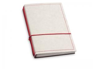 A6 3er Notizbuch Texon stone / rot mit Notizenmix