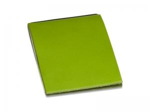 X-Steno Leder glatt grün mit 1 Einlage