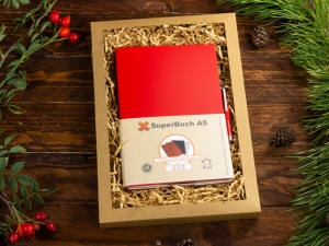 A5 2er Notizbuch Lefa rot in der BOX