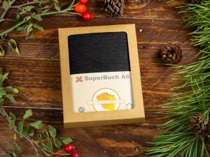 A6 2er Notizbuch Leder natur schwarz in der BOX