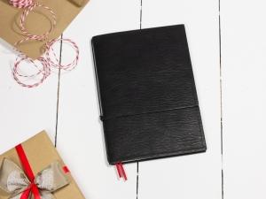 A5 1er Notizbuch Leder natur schwarz