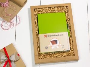 A5 2er Notizbuch Lefa grün in der BOX