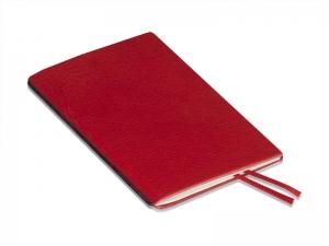 A6 1er Leder natur rot, 1 Einlage
