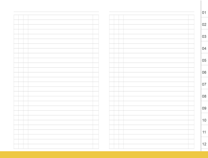 A6 Datenregister 1-12