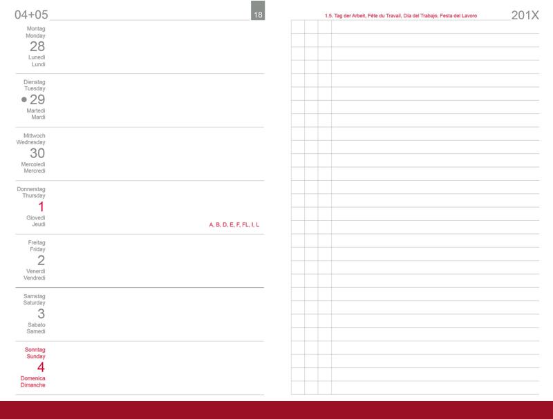 A6 Wochenkalender 2021 Links, inkl. Leporello/Faltplaner