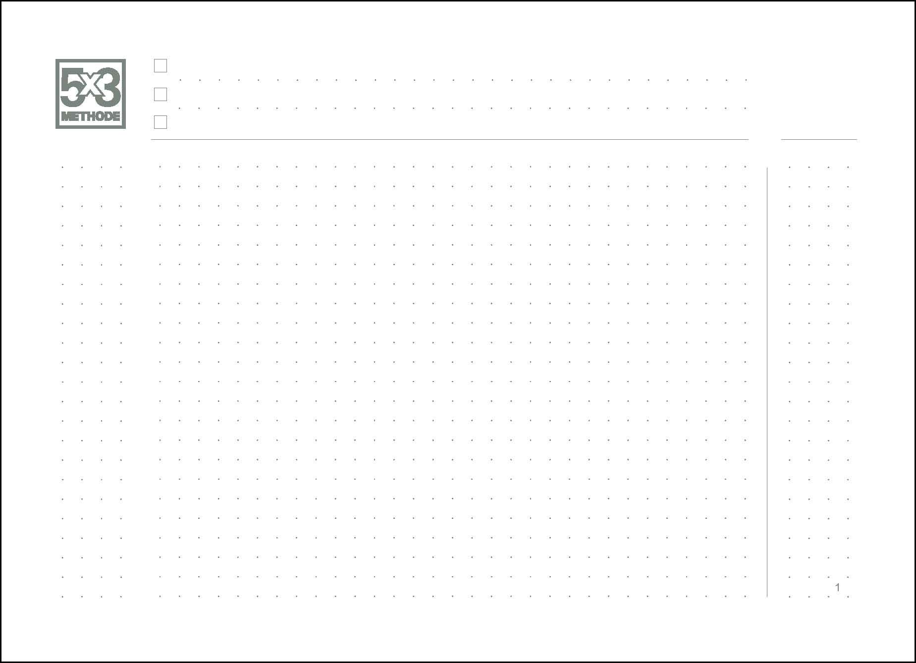 A5+ Quer - 5x3 Methode zur Selbstorganisation