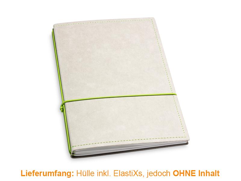 A5 Hülle 2er Texon stone/grün inkl. ElastiXs