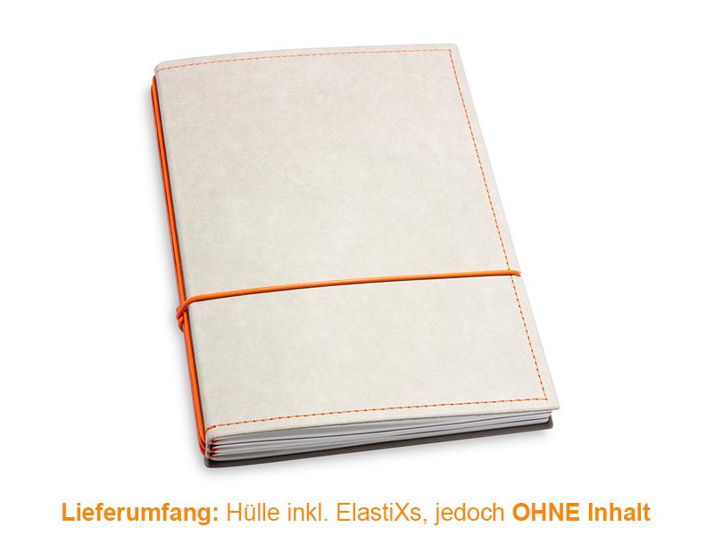 A5 Hülle 3er Texon stone/orange inkl. ElastiXs