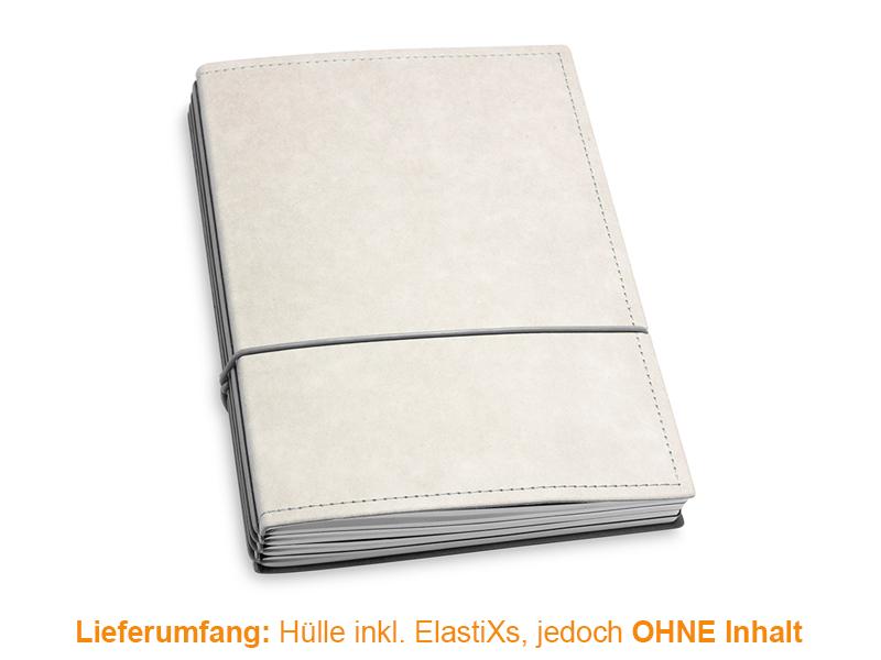 A5 Hülle 4er Texon stone/grau inkl. ElastiXs