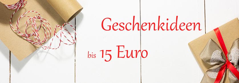 Geschenkideen bis 15 €