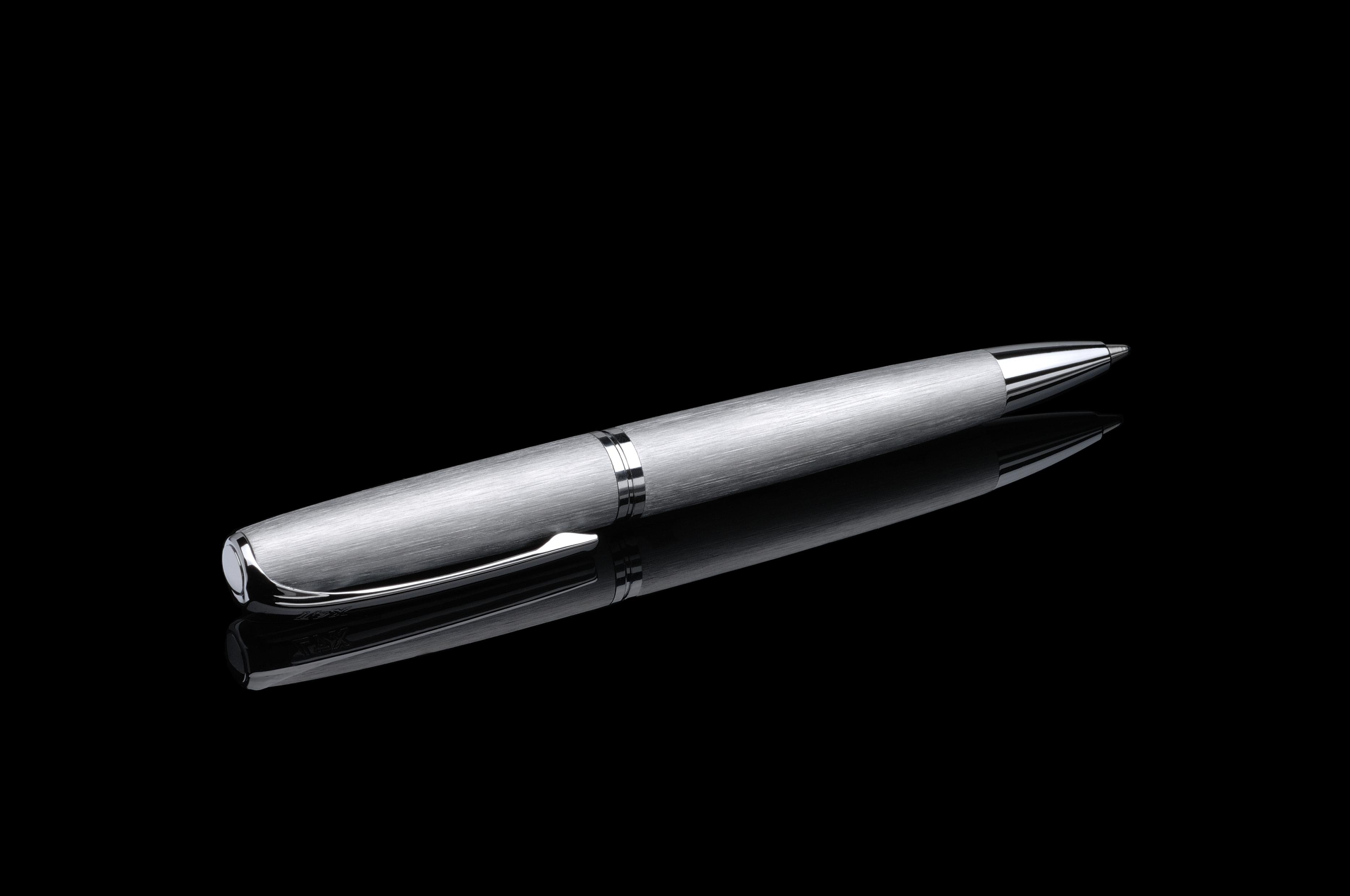 Stift N°1: Drehbleistift 0,5 mm stahl gebürstet
