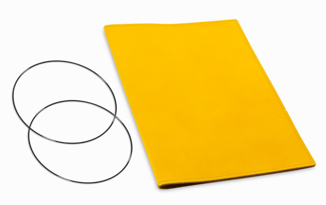 A4+ Hülle 1er Leder glatt gelb inkl. ElastiXs