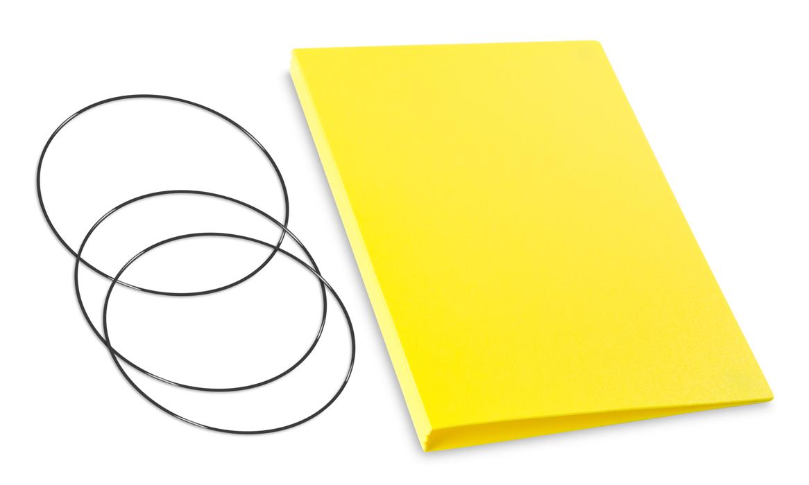 A5 Hülle 2er HardSkin gelb inkl. ElastiXs