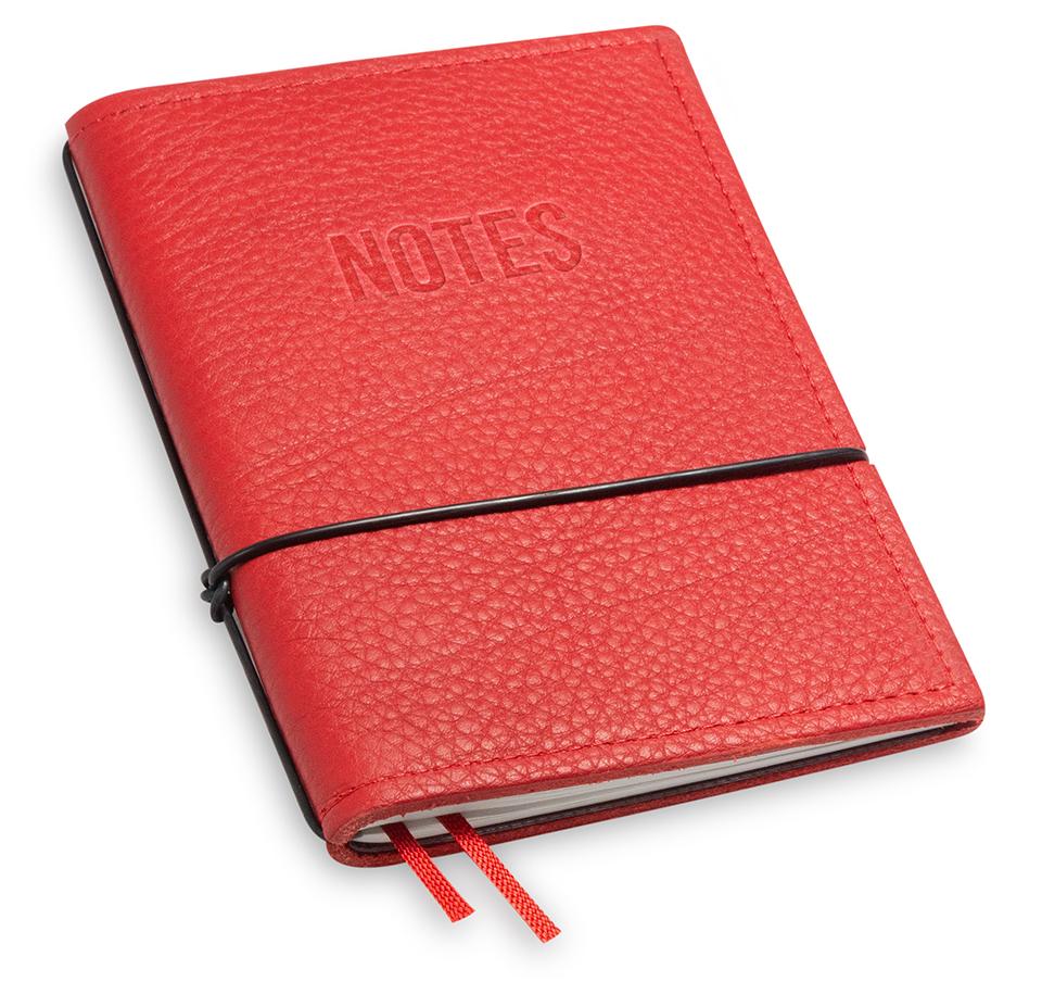 """NOTES"" A6 1er Leder natur rot, 1 Einlage"
