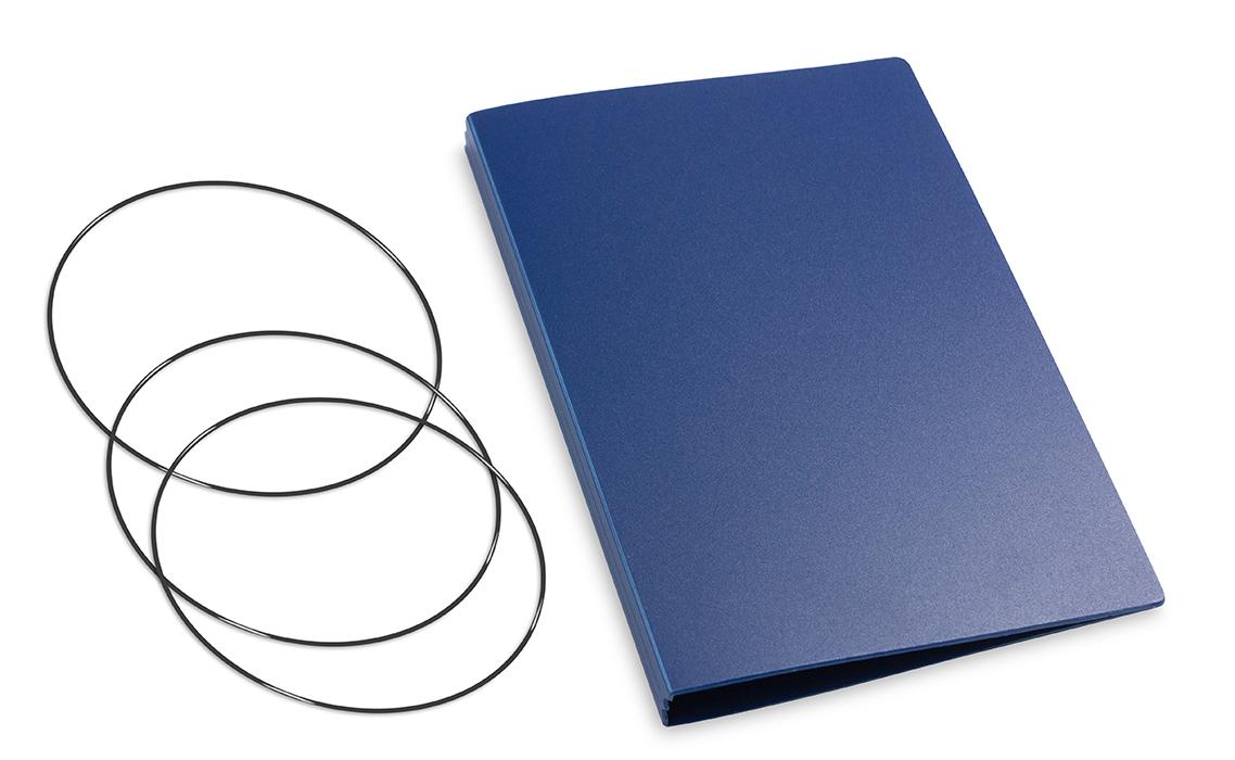 A6 Hülle 2er HardSkin dunkelblau inkl. ElastiXs