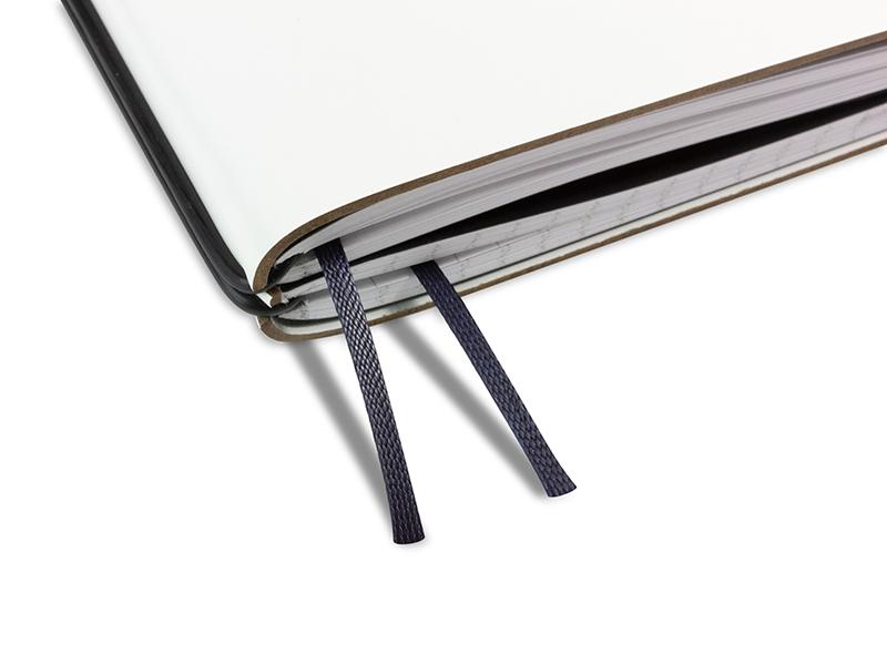 Doppelbuchband schwarz-blau