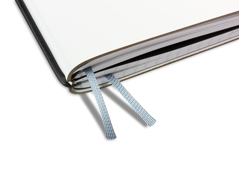 Doppelbuchband silber