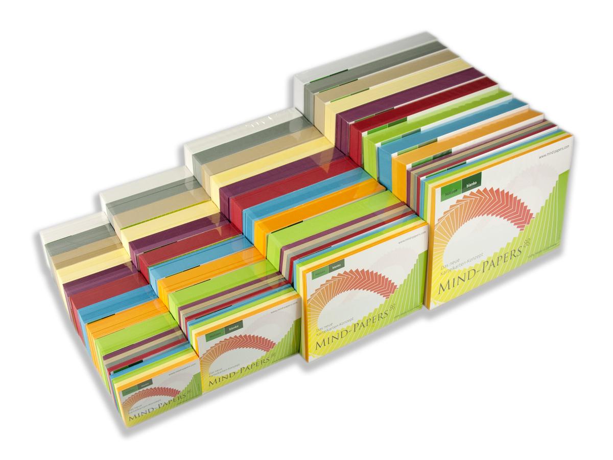 Mind-Papers Nachfüllpack: 100 Karteikarten/Pack