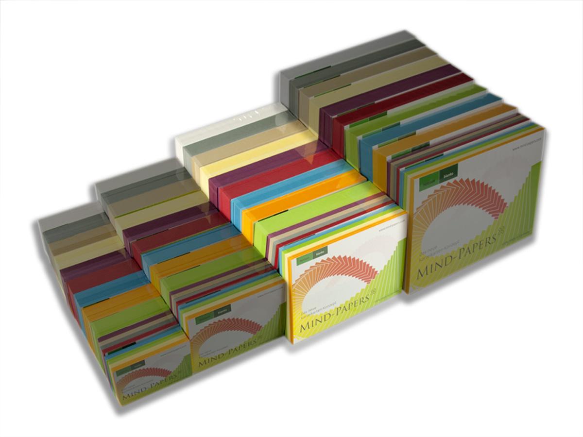 DIN A6 Mind-Papers Nachfüllpack, 100 Karteikarten