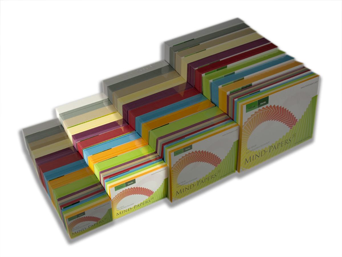 DIN A7 Mind-Papers Nachfüllpack, 100 Karteikarten
