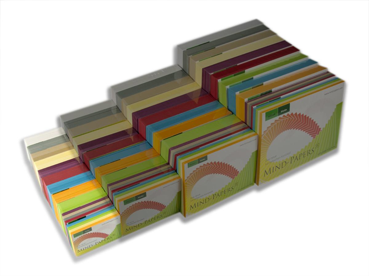 DIN A8 Mind-Papers Nachfüllpack, 100 Karteikarten